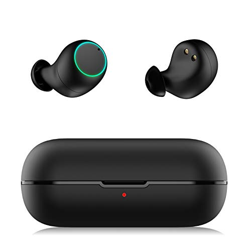31yqmfNIC7L. SL500  - Wireless Earbuds Bluetooth 5.0 Headphones, Cshidworld True Wireless Stereo Earphones with 35Hrs Playback, Hi-fi Sound Bluetooth Headset with Charging Case, One-Step Pairing (White)