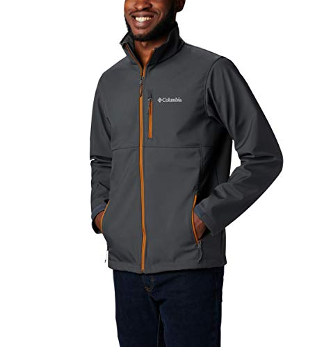 Columbia Men's Tall Size Ascender Softshell Jacket, Water & Wind Resistant, Shark, LT