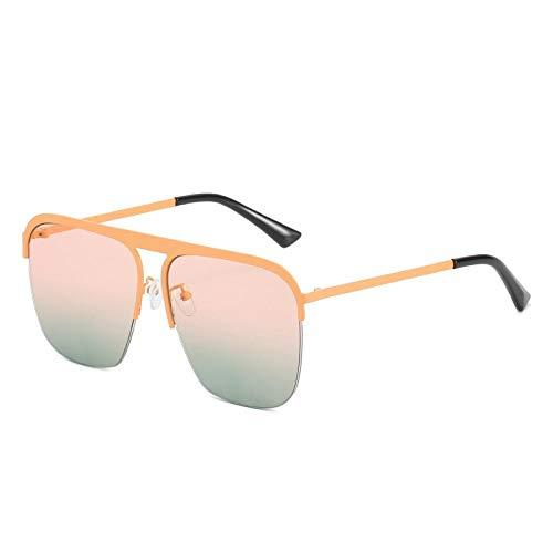 YHKF Gafas De Sol Cuadradas De Gran Tamaño para Mujer Retro Vintage para Hombre Gafas De Sol Gafas Mujer-Rosa