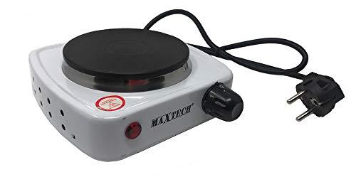 Vetrineinrete® Fornello elettrico 500 watt con temperatura regolabile piastra elettrica con termostato 10 cm da viaggio campeggio vacanza H-009 M59