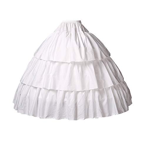 BEAUTELICATE Girls Petticoat 100% Cotton Crinoline Underskirt for Kids Flower Dress Slips Style2 22'