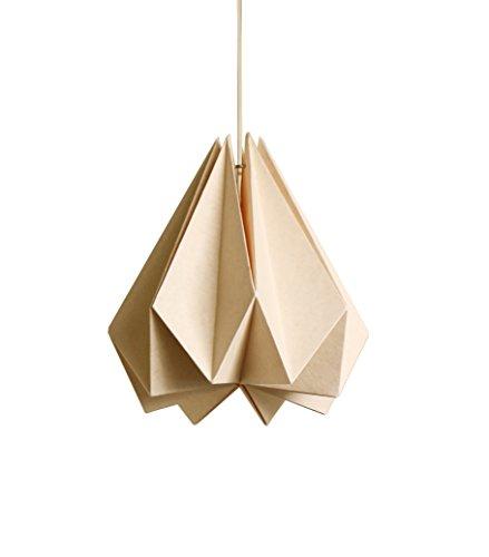 Brownfolds Pantalla para lámpara Origami de papel, color melocotón claro