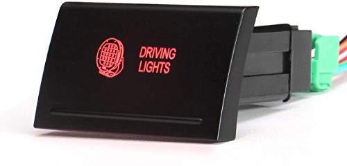 Datouya Barra de lámpara de luz inversa de Doble Interruptor de Empuje SP y STRDRIVERS Cambiar Partes (Color : D)