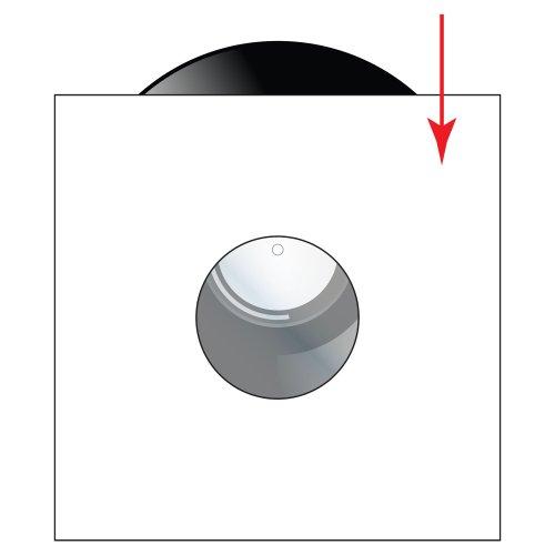 Innen weiß, für 12 Zoll Schallplatten 10