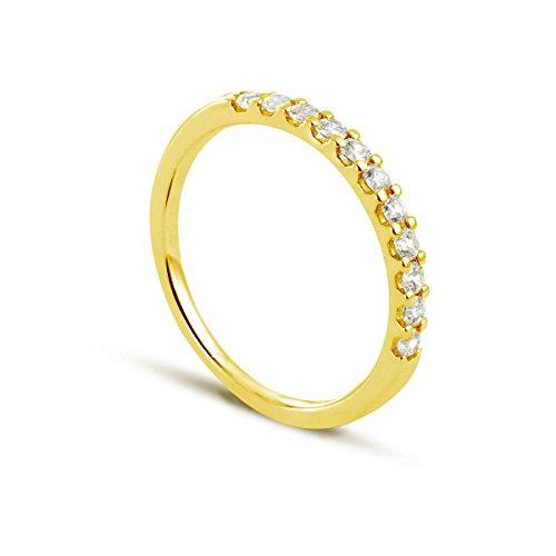 Bijoux-de Maike Thoma BADM02011 diseño de Torre Boda Amarillo 375/1000 1,5 G, 0,4 de Diamante Quilates