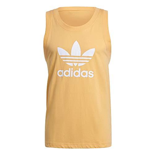 adidas Camiseta de tirantes con trébol. naranja XL