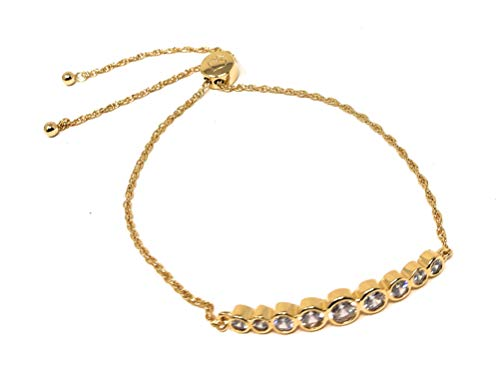 Kate Spade Circle of Love Gold Plated Adjustable Chain Bracelet