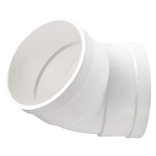 SONSYON Conectores de Montaje - Conectores Adaptadores de Tubo de Tubería de Agua de PVC de 75mm/110mm, Blanco
