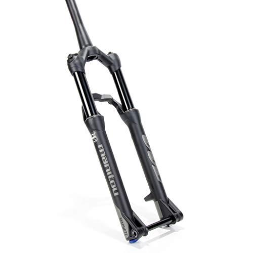 Mountain Bike Manitou 27,5 Pouces Suspension VTT Fourche Avant, Air Spring Shock Absorber, avec réglage de Rebond (Manuel Lockout/Verrouillage à Distance) (Size : Manual Lockout)