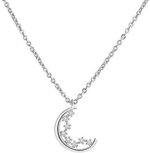 ZHIFUBA Co.,Ltd Collar Lady of Small Star Clavícula Cadena Charm Regalos de Tendencia Simple