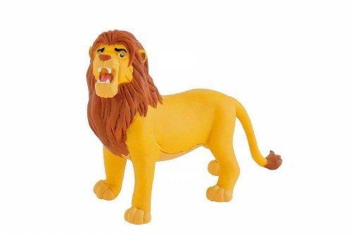 Bullyland 12253 - Spielfigur, Walt Disney König der Löwen - Simba, ca. 12,7 cm groß, liebevoll handbemalte Figur, PVC-frei, tolles Geschenk für Jungen und Mädchen zum fantasievollen Spielen