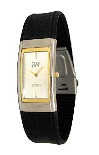 OSCO Steel Damen-Armbanduhr mit Kautschuk-Armband 3045 (Gold)