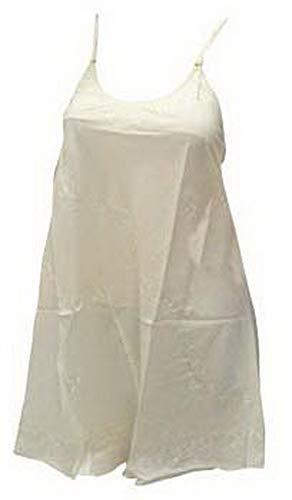 LA LEELA - Vestido de playa para mujer, talla grande, color blanco