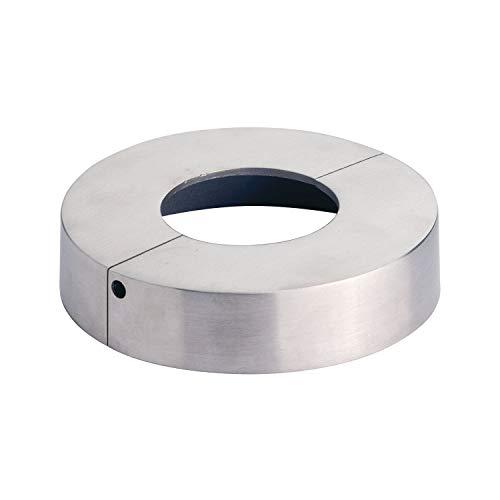 CROSO CN8000170 8000170 Abdeckrosette zweiteilig, ø 105 mm, Bohrung ø 43 mm, Edelstahl geschliffen V4A, Silber