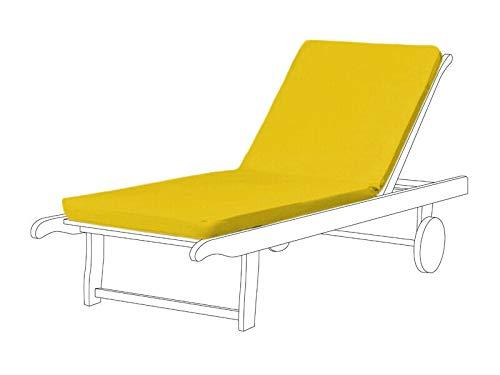 Cojín reclinable para silla de jardín, Resol Master Chair Pad de repuesto para tumbonas Marina (paquete de 3, amarillo)