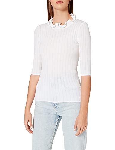 Pinko VELOCISTA Suéter, Z15_Bianco Nembo, S para Mujer