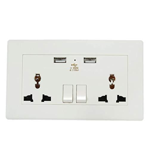 Eléctrica de doble puerto USB placa de adaptador de salida del cargador...