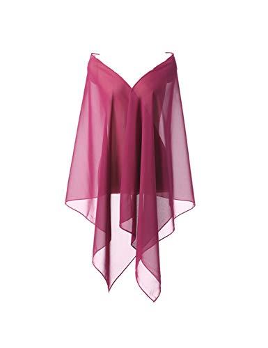 CoCogirls Stola in chiffon per abiti in diversi colori, adatta a qualsiasi abito da sposa, da sera, da matrimonio, da gala o ricevimento azzurro Taglia unica (#46)