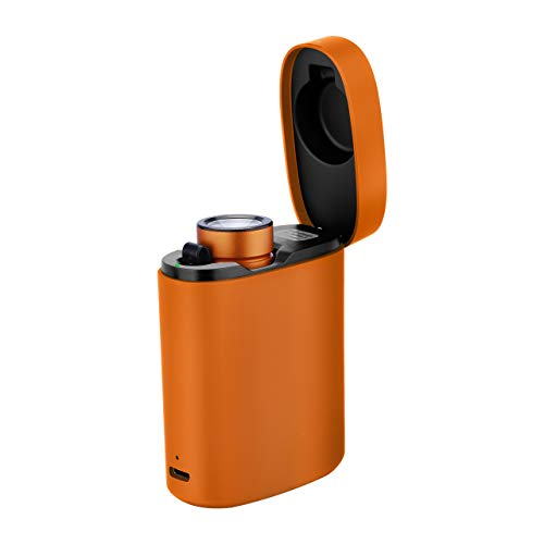 Olight Baton 3 1200 Lumen Rechargeable LED Flashlight S1R II, Magnetic Charging Cord (Standard Edition) or Portable Wireless Charger (Premium Edition) (Orange, Premium Edition)