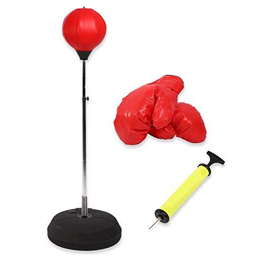 EBTOOLS - Bolas de boxeo con pie ajustable en altura de 125-140 cm, con guantes de bomba y base de lastre