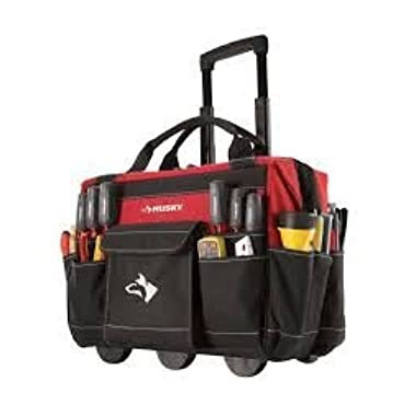Rolling Tool Tote 18 In., Constructed of 600 Denier Spun Tuff Heavy-duty, Water-resistant Material by Husky