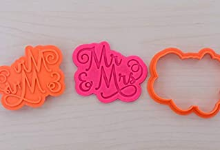 Mr & Mrs Cookie Cutter and Stamp Set 100 (2.5 inches)