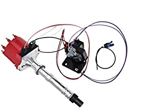 A-Team Performance EST Marine Electronic Ignition Distributor and Coil Upgrade Kit V8 5.0 5.7 7.4 18-5514 3857449 Compatible with Mercruiser EFI Chevy Chevrolet Volvo Penta OMC Red Cap