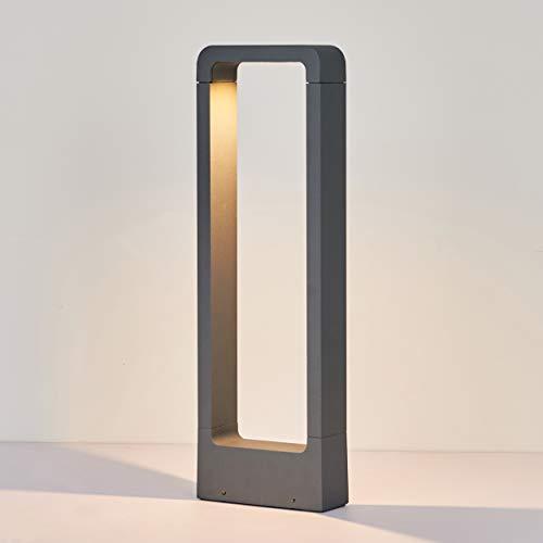 Topmo-plus Außenlampe Gartenlampe / 7W LED bridgelux COB Wegelampe Garten Aluminium LED Stehleuchte Standlampe IP65 Wasserdicht Terasse/Garten/Korridor/Flurbeleuchtung 770LM (50CM Grau/warmweiß)