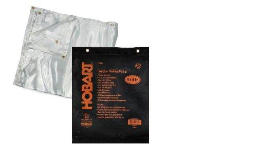 Hobart 770635 Heat-Treated Fiberglass Welding Blanket, 4-Foot by 6-Foot