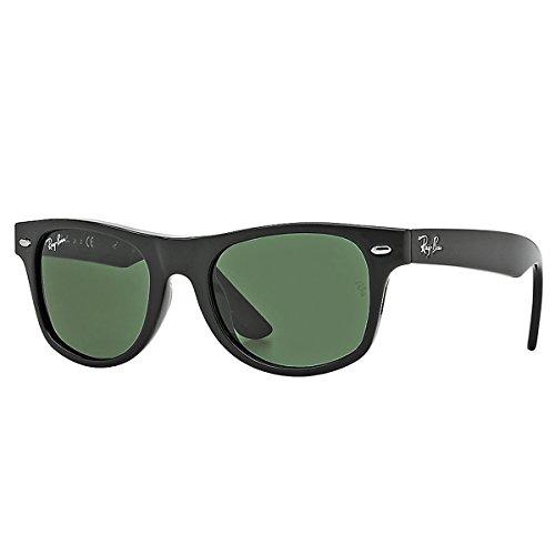 Ray-Ban Junior Kids' RJ9052S New Wayfarer Sunglasses, Black/Green, 47 mm