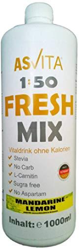 ASVita Fresh Mix 50 Vital Drink, Mandarine-Lemon, 1L Flasche