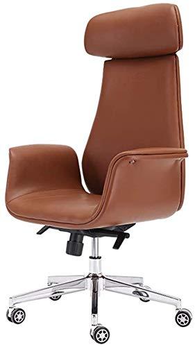 ZXNRTU Relájese cómodamente Seguro Silla de la computadora Silla de Oficina Volver Simple Home Silla giratoria cómodo, Gris, Nombre de Color: Brown (Color : Brown)