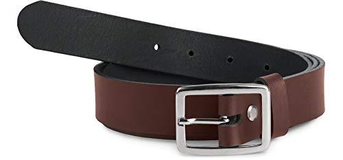 Merry Style Damen Gürtel Ledergürtel D41 (Dunkelbraun-2, 90 cm (Gesamtlänge 109 cm))