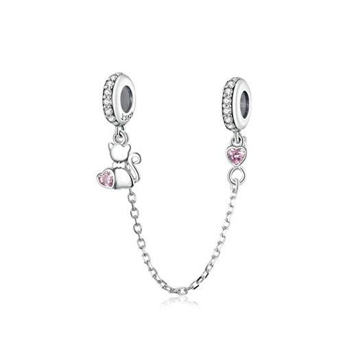 Ciondolo in argento sterling 925 con perline in materiali sicuri, per braccialetti Pandora da donna, stile europeo. e 925, colore: Simpatici ciondoli a forma di gatto., cod. YS-C011