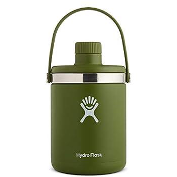 Hydro Flask Oasis Water Jug - Stainless Steel & Vacuum Insulated - Leak Proof Cap - 128 oz Olive