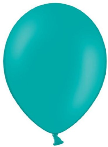 Belbal 25 Luftballons türkis Qualitätsballons Ø ca. 27cm B85 (Standardgröße)