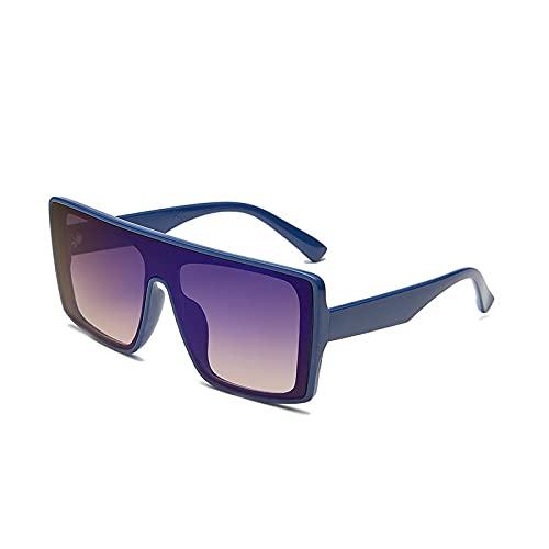 AMFG Big Frame Fashion Gafas de sol Señoras Trendy Gafas de sol Gafas de sol Gafas de sol Gafas de sol Hombres (Color : B)