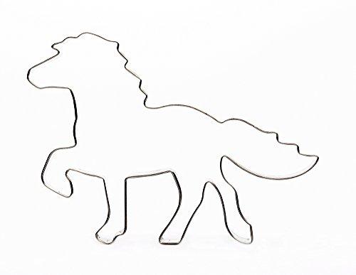 IJslandpaard ca. 12 cm roestvrijstalen uitsteekvorm koekjesuitsteker paard