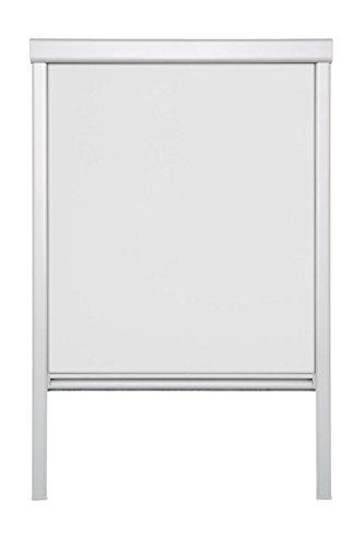 Lichtblick Dachfenster-Rollo Skylight, 38,3 x 80,0 cm (B x L) in Weiß, 100% Verdunkelung, Thermo-Rollo für Velux-Fenster, Sonnen-, Hitze- & Sichtschutz (CK04)