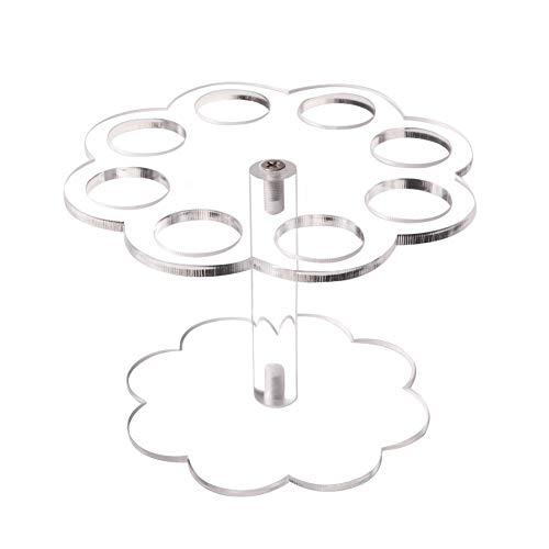 Estante para cono de helado de 8 agujeros Reutilizable Soporte para cono...