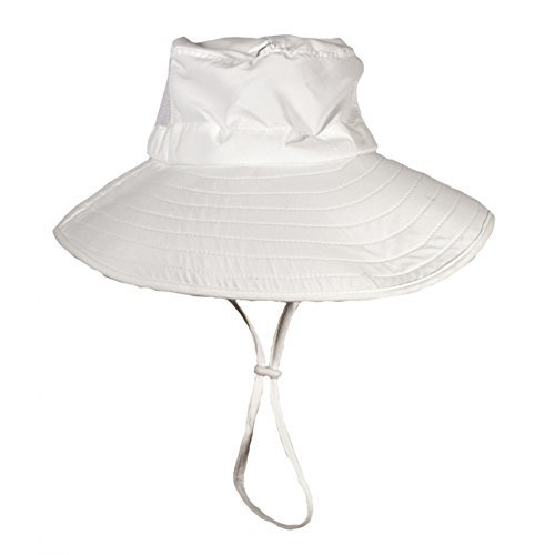 Bughat - Adult Work n Play Mosquito Net Hat - White - Small/Medium - Unisex - Outdoor Hat - Sun and Bug Protection