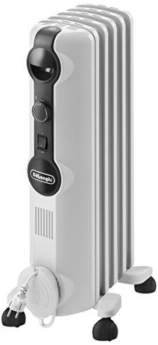 De'Longhi TRRS 0510M Calefactor, Radiador, Interior,  Interruptor, Giratorio, Indicadores LED, 1000 W, Blanco