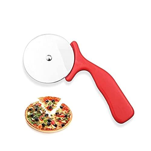 QOXEFPJZ Cortador de Pizza 1pc Pizza Cortador de Acero Inoxidable Cuchillo Herramientas de Pastel de Pizza Ruedas Tijeras Ideal Pizza Tartas Waffles Galletas de Masa Gadgets de Cocina (Color : A)