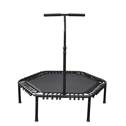 XXHDEDe trampoline van de familie, voor kinderen en volwassenen, de training met de armleuningen die de trampoline springen.