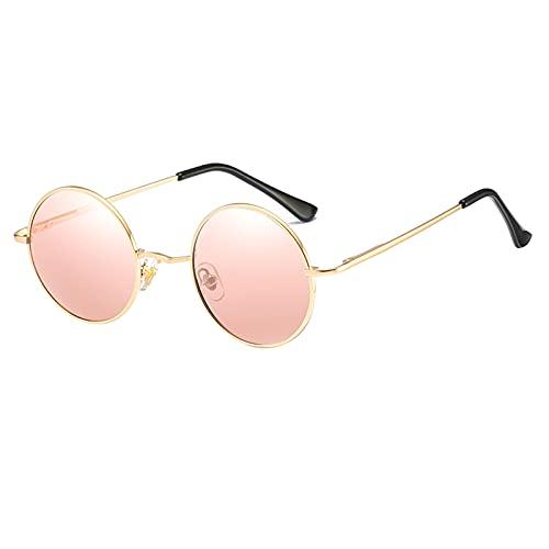 Kennifer Lunettes de soleil classiques rondes polarisées UV400 avec monture en métal vintage style Lennon pour homme et femme Protection UV400 Cadre Matel
