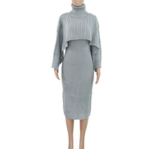 Wtbew-u coltrui met lange mouwen trui 2-delige set trui jurk, trui rok