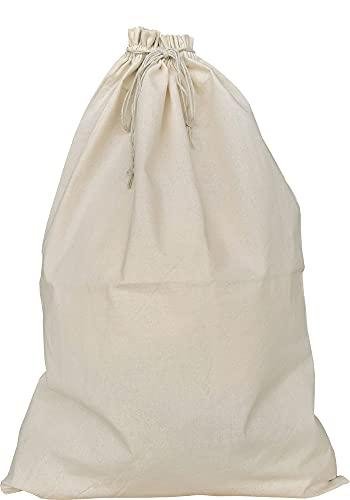 Juego de 2 bolsas de tela para la colada, grandes bolsas para la colada con cordón, para viajes, duraderas, sostenibles (60 x 40 cm)