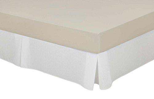 Cassa Luyton Cubre canapé loneta de Fuelles, Algodón-Poliéster, Blanco, 180 x 200 cm
