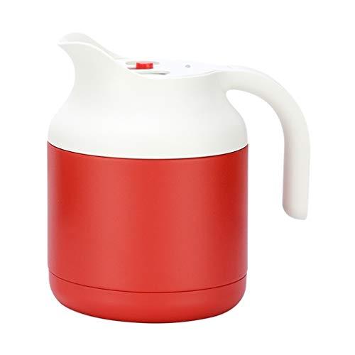 Karafka Termiczna na Gorące Napoje 1. 5L Produkt Vacuum Izolacja Termos Stal Nierdzewna Dwuwarstwowa Podwójna izolacja Pot Sok Kawa Drink Herbata Karafka Próżniowa (Color : Red)