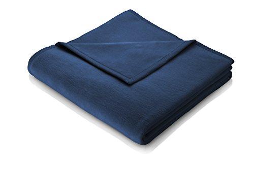 Biederlack Sofadecke 150 x 200 cm, Baumwolle 60%, Blau